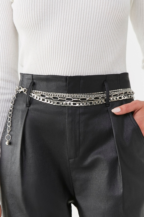 Forever21 Forever 21 Tiered Chain , Silver Belt