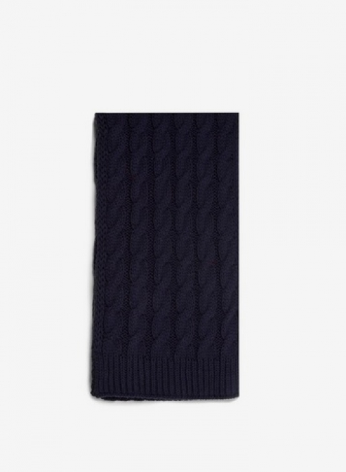 Dorothy Perkins Womens Navy Cable Knit - Blue, Blue Scarf