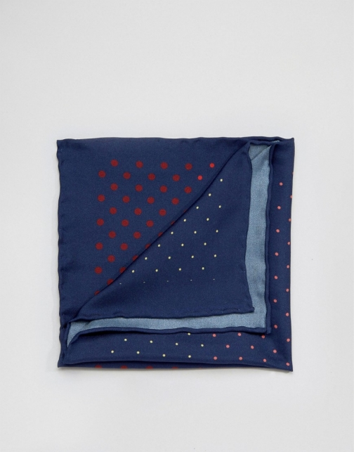 Original Penguin Silk Multi Colour Spots Pocket Square