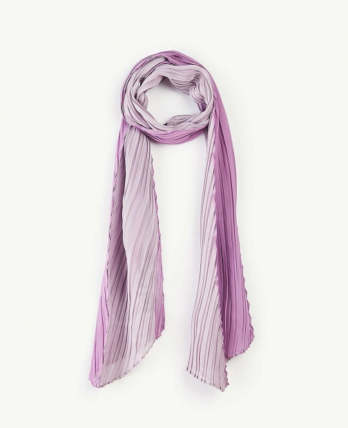 Ann Taylor Two Tone Pleated Scarf