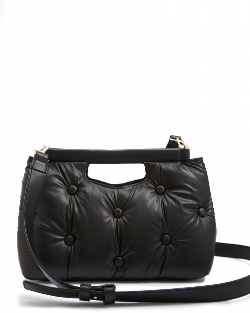Forever21 Forever 21 Faux Leather Cushioned Black Shoulder Bag