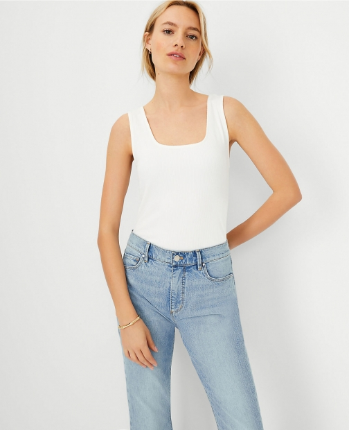 Ann Taylor Square Neck Shell Top