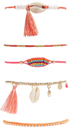 Forever21 Forever 21 Assorted Set , Pink/multi Bracelet