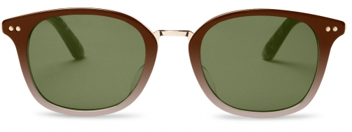 Toms Barron Honey Fade Brown With Olive Green Gradient Lens Sunglasses