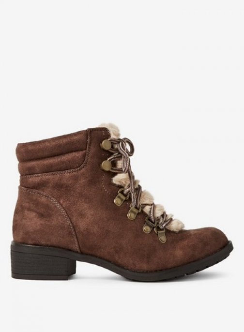 Dorothy Perkins Womens Wide Fit Brown 'Abbie' Lace Up - Brown, Brown Boot