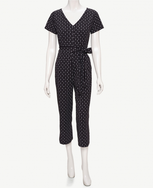 Ann Taylor Factory Tall Dotted V-Neck Jumpsuit