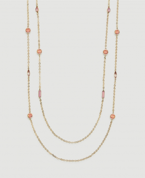 Ann Taylor Factory Gem Layered Illusion Necklace
