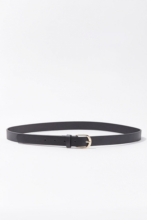 Forever21 Forever 21 Skinny Faux Leather , Black Belt