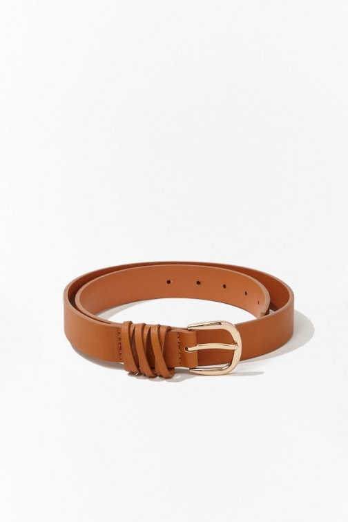 Forever21 Forever 21 Faux Leather Hip , Tan Belt