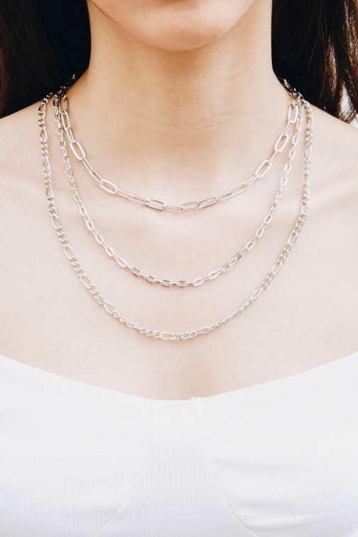 Forever21 Forever 21 Anchor Chain Necklace Set , Grey Jewellery