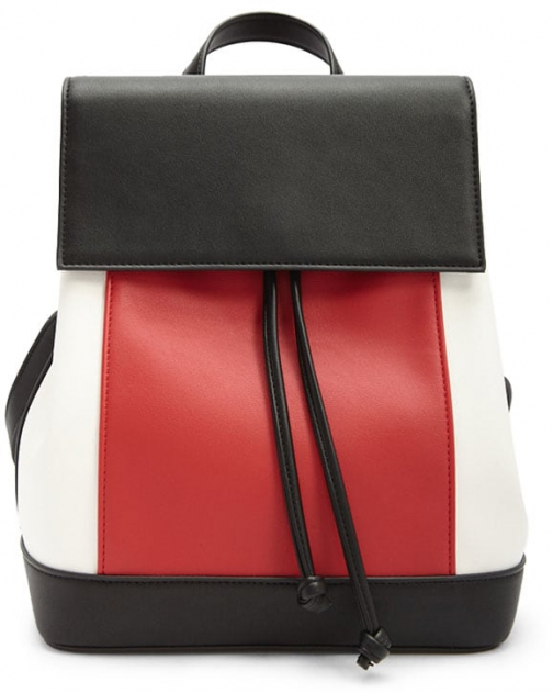 Forever21 Forever 21 Colorblock Faux Leather Red/multi Backpack