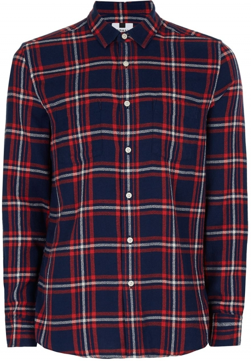 Topman Men's Topman Long Sleeve Checked Shirt