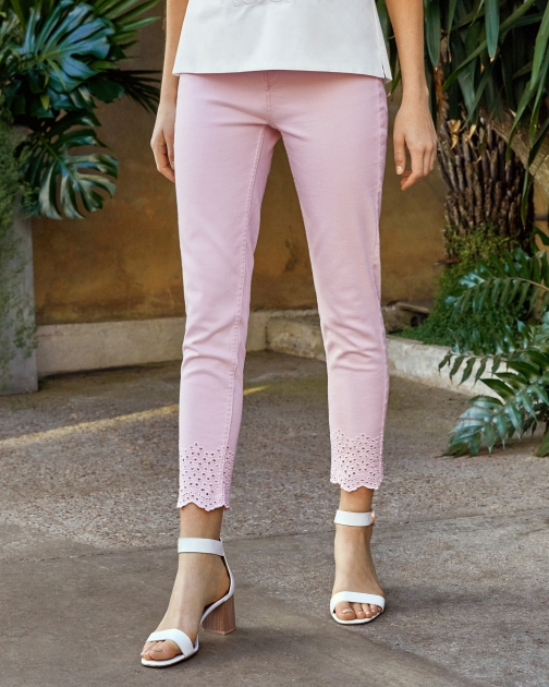 Ted Baker Embroidered Cotton Jeans