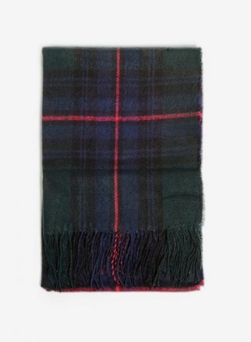 Dorothy Perkins Womens Navy Dark Checked - Blue, Blue Scarf