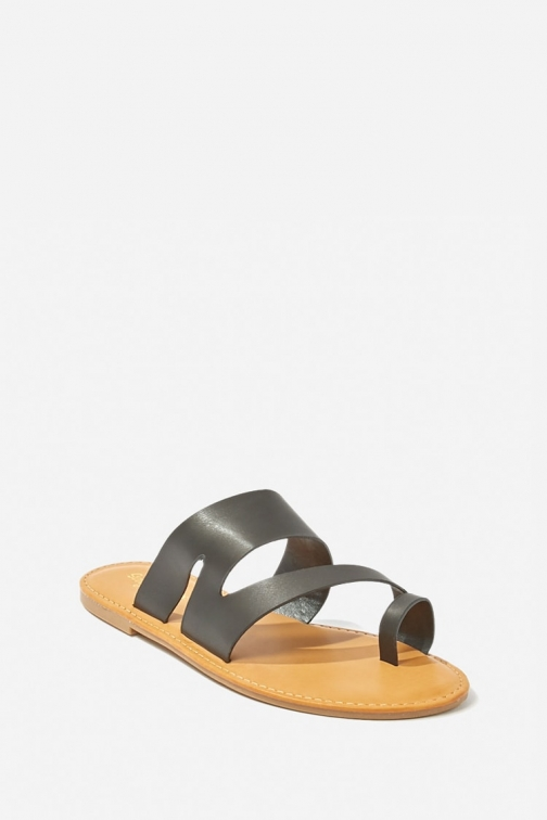 Forever21 Forever 21 Faux Leather , Black Sandals