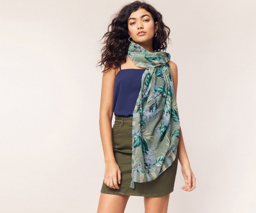Oasis Tropical Square Scarf