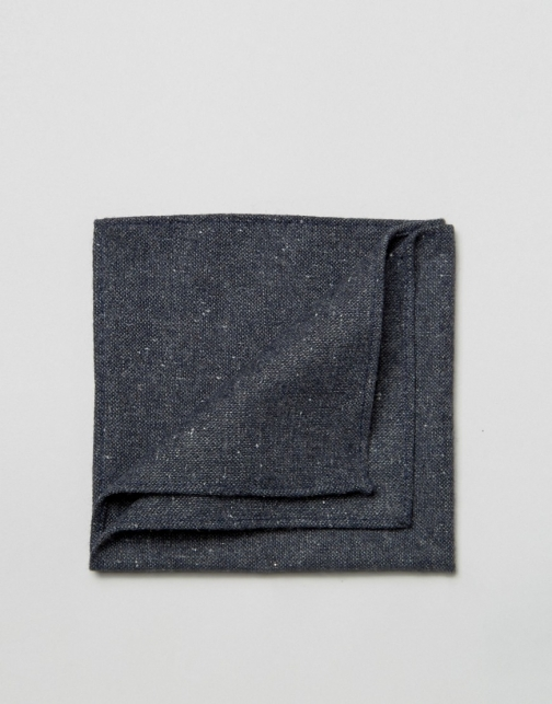 Asos Navy Warm Handfeel Texture Pocket Square