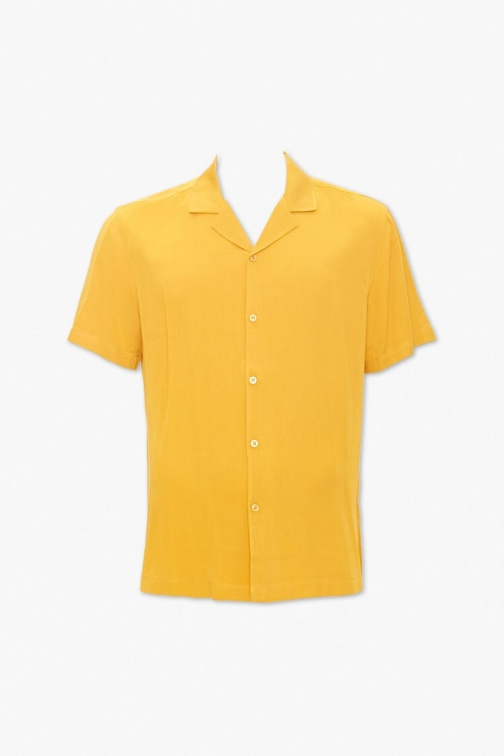 21 Men Classic Fit Short Sleeve At Forever 21 , Yellow Shirt