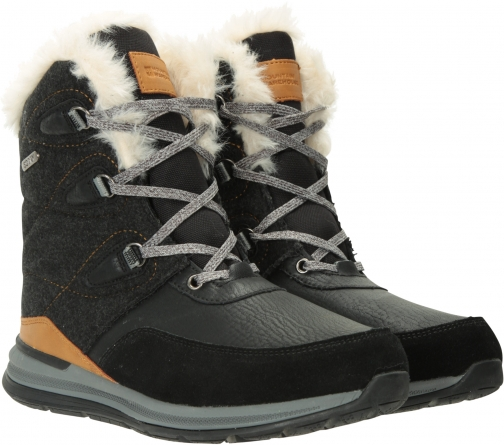 Mountain Warehouse Ice Crystal Womens Waterproof - Brown Snow Boot