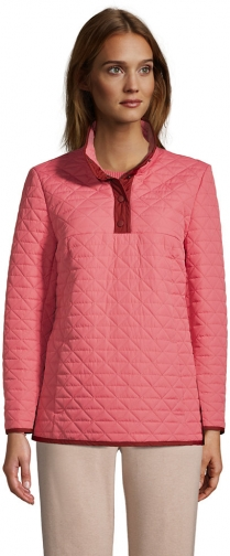 Lands' End Women's Insulated Quilted Snap Neck - Lands' End - Red - XS Pullover