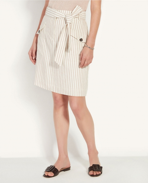 Ann Taylor Striped Cargo Skirt