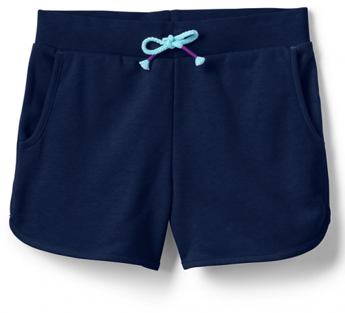 Lands' End Girls French Terry Pull On - Lands' End - Blue - S Short