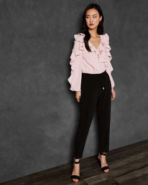 Ted Baker Contrast Ruffle Jumpsuit