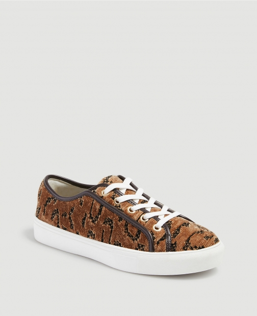 Ann Taylor Clara Leopard Print Lace Up Sneakers Trainer
