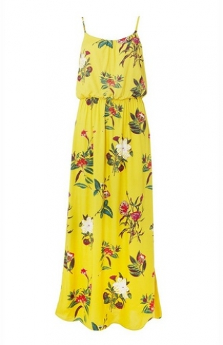 Dorothy Perkins Womens **Only Yellow Floral Print - Yellow, Yellow Maxi Dress