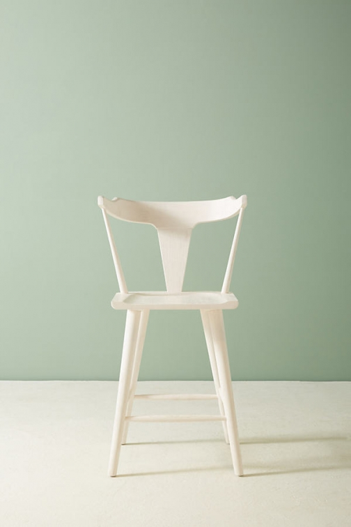 Anthropologie Mackinder Counter Stool - White Accessorie