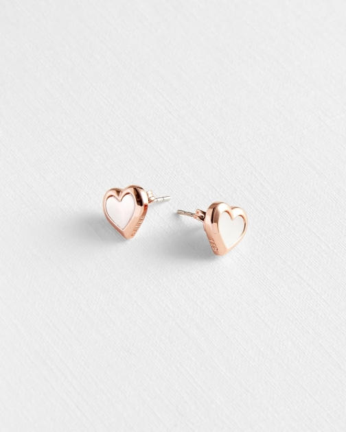 Ted Baker Mother Of Pearl Heart Stud Earring