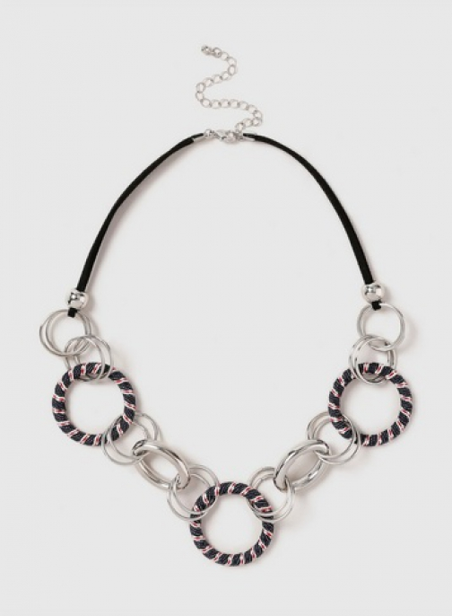 Dorothy Perkins Silver Look Circle Link Collar Necklace