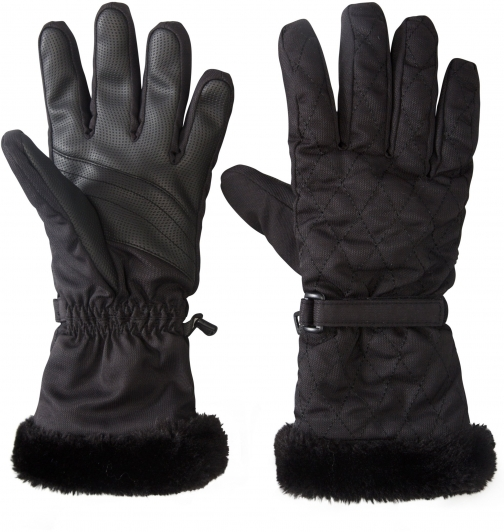 Mountain Warehouse Quilted Womens Ski - Black Glove