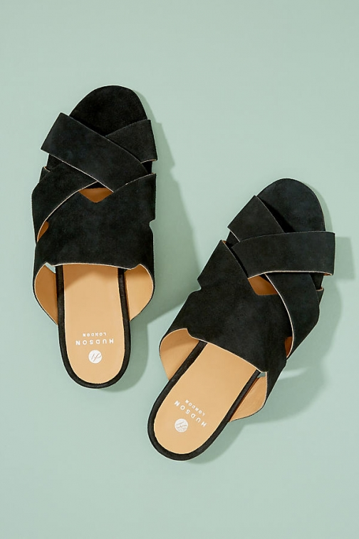 Anthropologie Hudson London Lonatu Suede Sandals