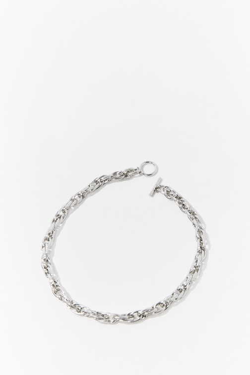 Forever21 Forever 21 Chunky Curb Chain , Grey Chokers