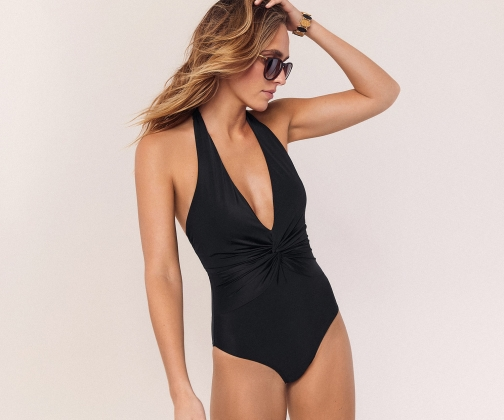 Oasis Knot Front Swimsuit