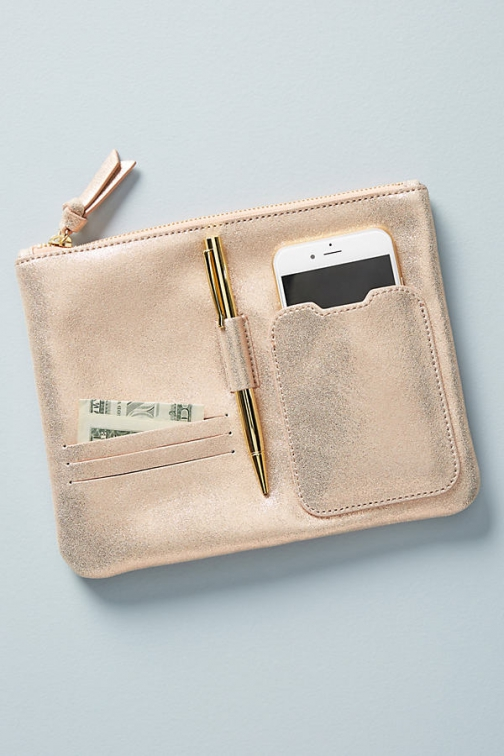 Anthropologie Leah Leather Pouch Pouch