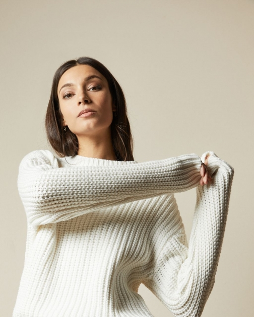 Ted Baker Button Sleeve Cable Knit Jumper