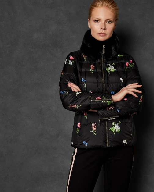 Ted Baker Florence Printed Down Jacket