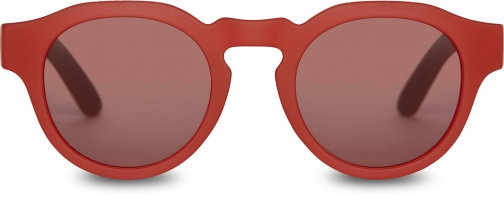 Toms Traveler By TOMS Bryton Matte Fiesta Red With Fiesta Red Lens Sunglasses