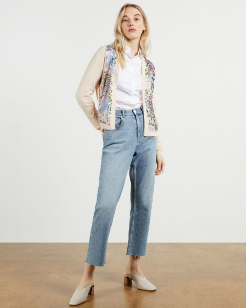 Ted Baker Woven Front Topairy Cardigan