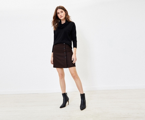 Oasis Puppytooth Mini Skirt