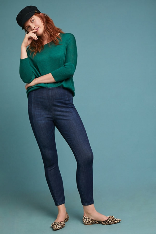 Anthropologie Pilcro High-Rise Performance Denim - Blue, Size 28 Petite Legging