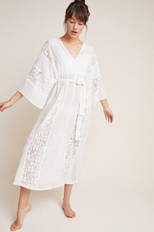 Anthropologie Lace Cover-Up Robe
