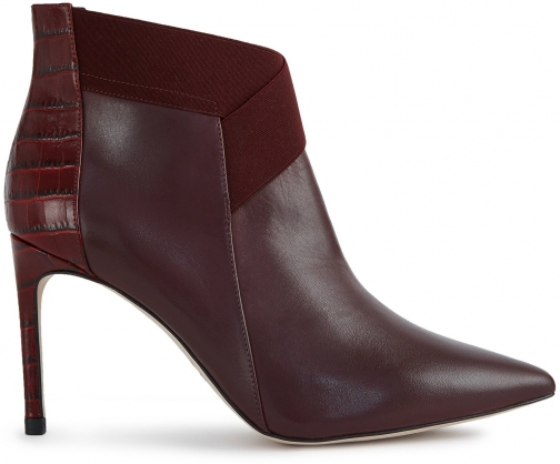Reiss Belinda - Point Toe Heeled Berry, Womens, Size 3 Ankle Boot