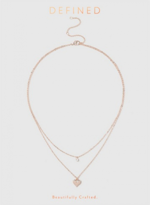 Dorothy Perkins Rose Gold Lookcubic Zirconia Row Necklace