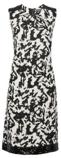 Dorothy Perkins Tall White Camouflage Print Sequin Trim Shift Dress