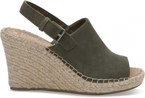 Toms Pine Suede Women's Monica - Size UK7.5 / US9.5 Wedge