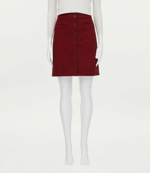 Loft Button Straight Skirt