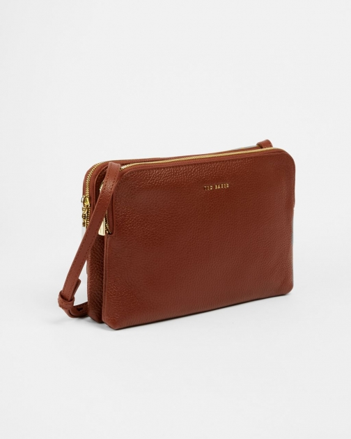 Ted Baker Leather Double Pouch Crossbody Bag